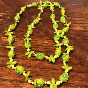50's Hong Kong glass & plastic beaded necklace